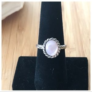VTG Sterling Pink Mother Of Pearl Ring,8 No Issues